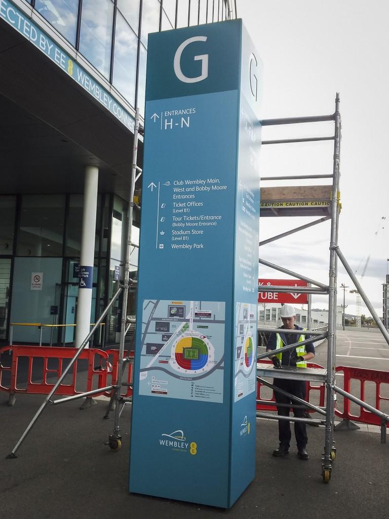 Wembley National Stadium Ltd Free Standing Monolith