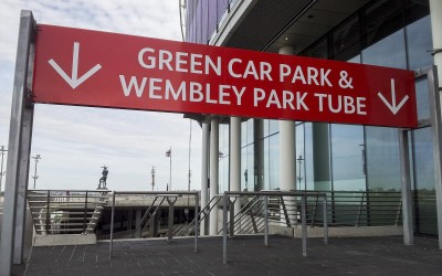 WNSL Wembley – series of overhead waymarking gantries