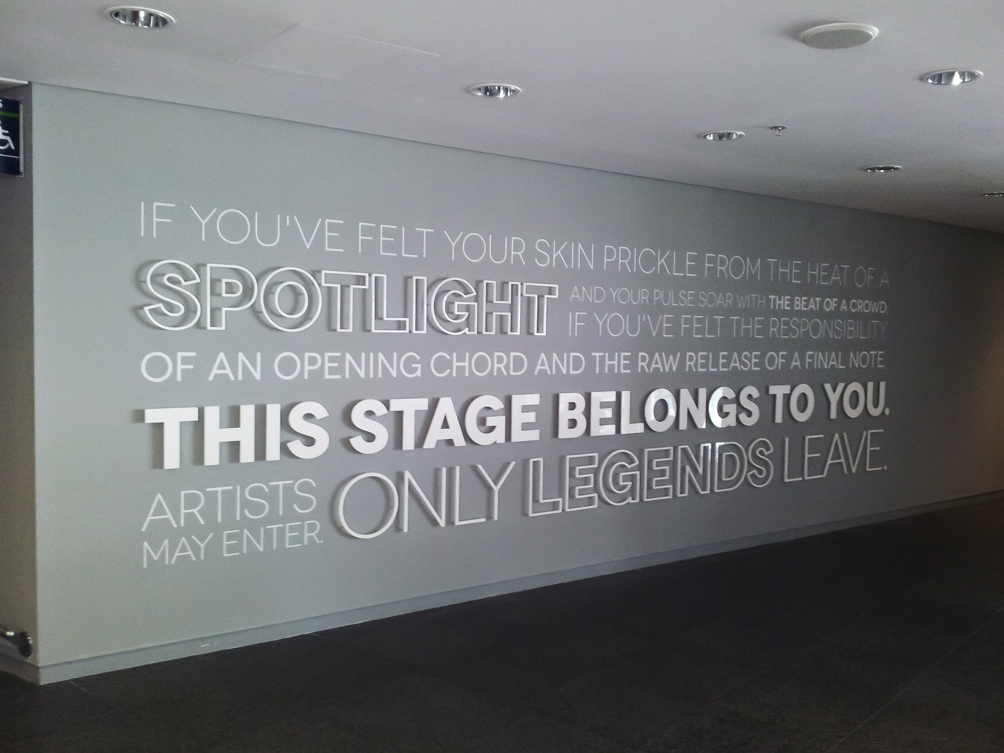WNSL Wembley - traditional signwriting & dense whit Perspex lettering