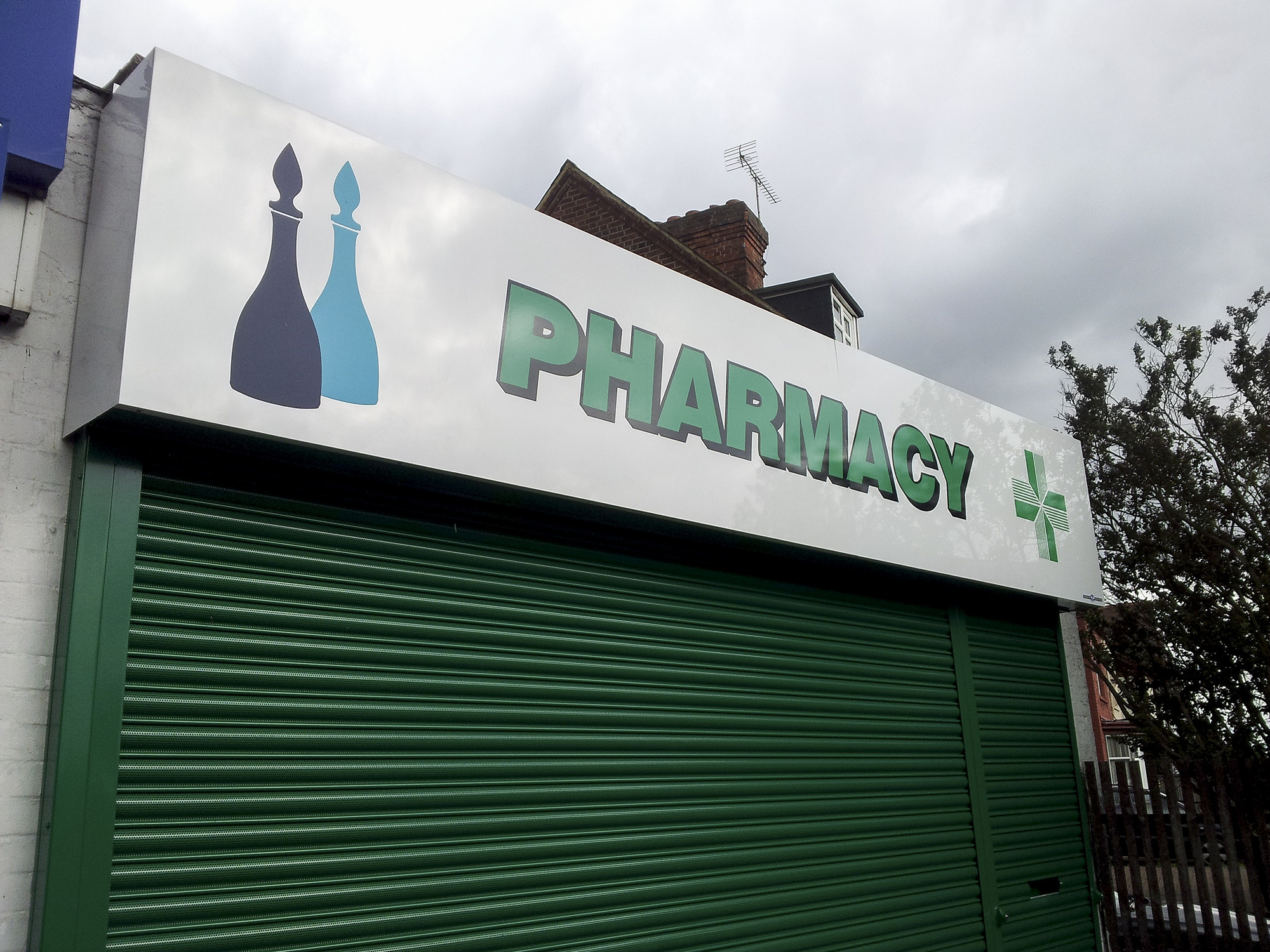 McParland's Pharmacy Langley - composite aluminium sheet sign