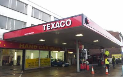 Texaco west Drayton – canopy signage