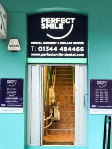 New shop signage for Perfect Smile