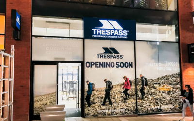 Shop sign installations – approved contractor for Trespass